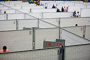 Frankfurt | Germany | 03.08.2014: T&uuml;rkische Pr&auml;sidentenwahl in der Frankfurter Fraport-Arena (Ballsporthalle). Zum ersten Mal in der Geschichte der T&uuml;rkei d&uuml;rfen die in Deutschland lebenden T&uuml;rken w&auml;hlen, ohne daf&uuml;r in die T&uuml;rkei reisen zu m&uuml;ssen. Dazu wurden in sieben deutschen St&auml;dten Stadien und Hallen angemietet.<br /> <br /> hier: In der Halle sind ettliche einzelne Wahllokale aufgebaut<br /> <br /> Sascha Rheker<br /> 20140803<br /> <br /> [Inhaltsveraendernde Manipulation des Fotos nur nach ausdruecklicher Genehmigung des Fotografen. Vereinbarungen ueber Abtretung von Persoenlichkeitsrechten/Model Release der abgebildeten Person/Personen liegt/liegen nicht vor.] [No Model Release | No Property Release]
