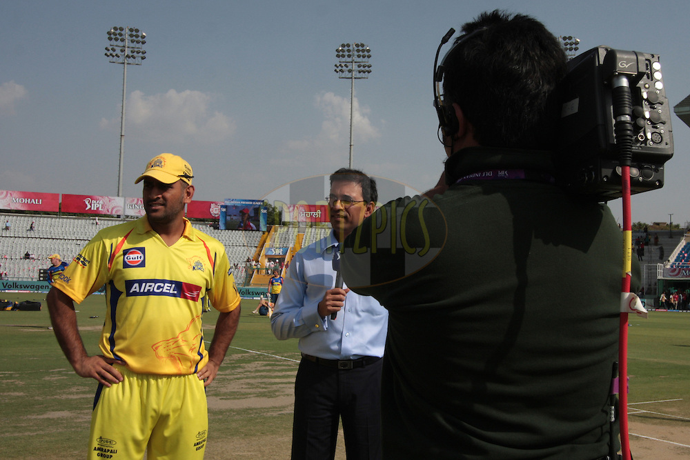 MS Dhoni, Captain Chennai Super Kings during match 9 of the Indian Premier League ( IPL ) Season 4 between the Kings XI Punjab and the Chennai Super Kings held at the PCA stadium in Mohali, Chandigarh, India on the 13th April 2011..Photo by Anil Dayal/BCCI/SPORTZPICS