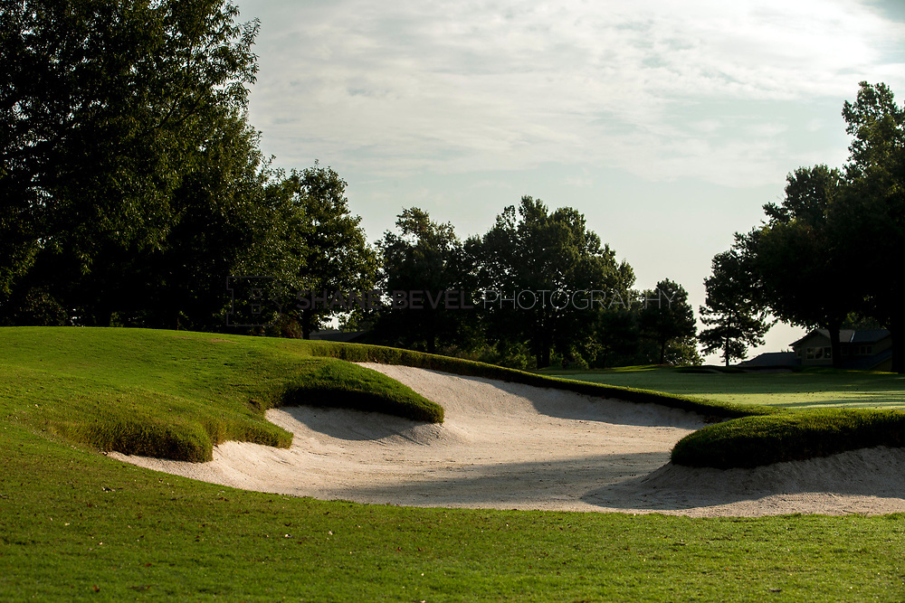 9/25/17 9:01:00 AM -- Bunkers and greens on Cedar Ridge Country Club for Jonesplan. <br /> <br /> Photo by Shane Bevel