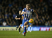 Brighton striker (on loan from Manchester United), James Wilson (21) during the Sky Bet Championship match between Brighton and Hove Albion and Ipswich Town at the American Express Community Stadium, Brighton and Hove, England on 29 December 2015.