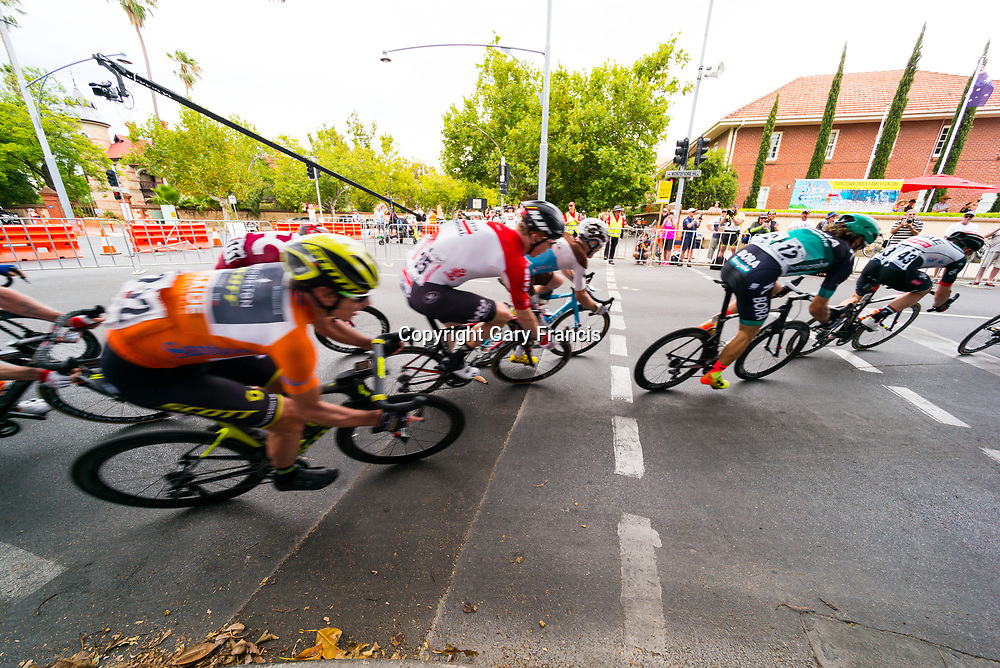Daryl Impey (L) at Stage 6, Adelaide City Circuit, of the Tour Down Under, Australia on the 21 of January 2018 ( Credit Image: © Gary Francis / ZUMA WIRE SERVICE )