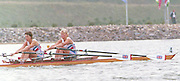 1988 Seoul. Korea GBR W2X . Bow. Alison [Ali] GILL and Sally  ANDREA. 1988 Summer Olympic Games [Mandatory Credit - Guy Hebblewhite/Intersport Images] 1988 Seoul Olympic Games. South Korea