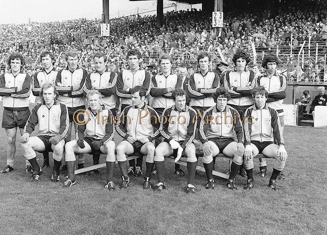 Dublin team before the All Ireland Senior Gaelic Football Final, Dublin v Armagh in Croke Park on 25th September 1977.