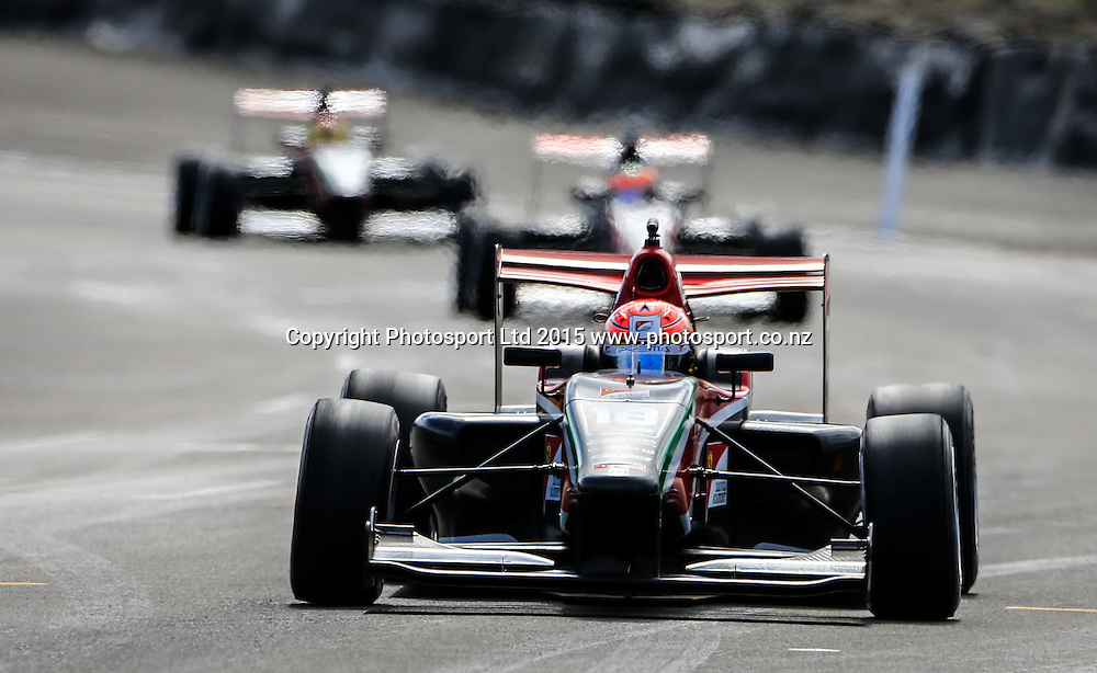 Lance Stroll on his way to winning the New Zealand Grand Prix -Toyota Racing Series, Manfeild Motorsport Park, Feidling, New Zealand. Sunday, 15 February, 2015. Photo: John Cowpland / www.photosport.co.nz