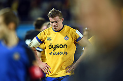 Tom Ellis of Bath Rugby looks dejected after the match - Mandatory byline: Patrick Khachfe/JMP - 07966 386802 - 15/12/2019 - RUGBY UNION - Stade Marcel-Michelin - Clermont-Ferrand, France - Clermont Auvergne v Bath Rugby - Heineken Champions Cup