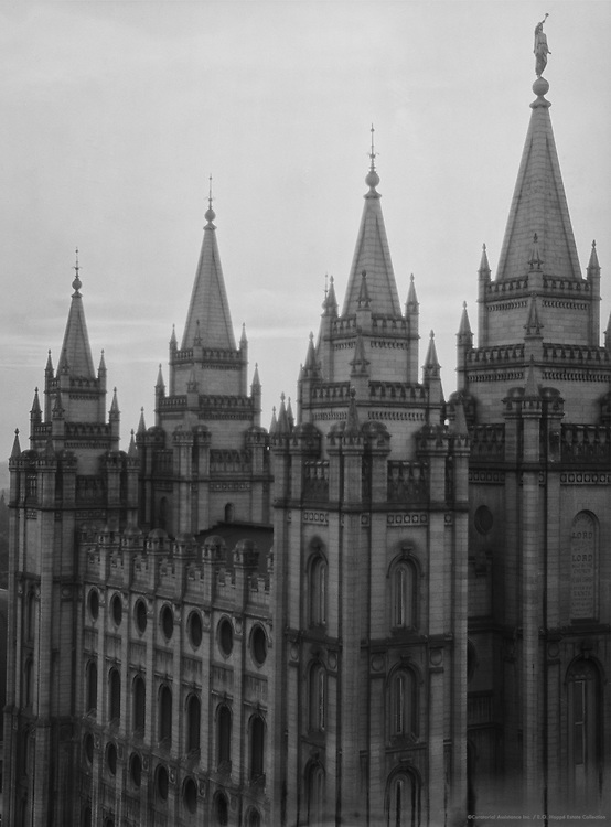 Temple, Salt Lake City, Utah, USA, 1926