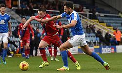 Donal McDermott of Rochdale and Ryan Tafazolli of Peterborough United battle for the ball - Mandatory by-line: Chantelle McDonald/JMP - 25/02/2017 - FOOTBALL - ABAX Stadium - Peterborough, England - Peterborough United v Rochdale - Sky Bet League One