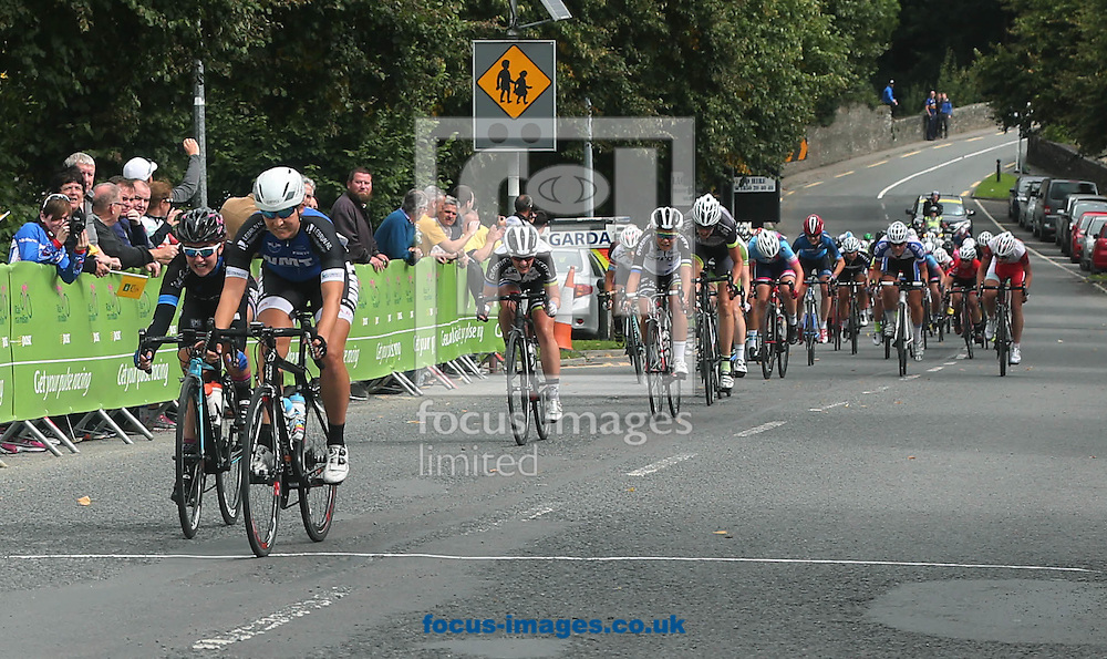 Melissa van Neck of the Regioteam Noord-Holland wins todays stage of the Ras na mBan at Castlecomer, Co.Kilkenny, Ireland<br /> Picture by Lorraine O'Sullivan/Focus Images Ltd +353 872341584<br /> 08/09/2016