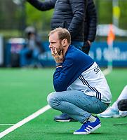 BLOEMENDAAL -   assistent-coach Daan Sabel (Pin)   , Libera hoofdklasse hockey Bloemendaal-Pinoke (0-0). COPYRIGHT KOEN SUYK