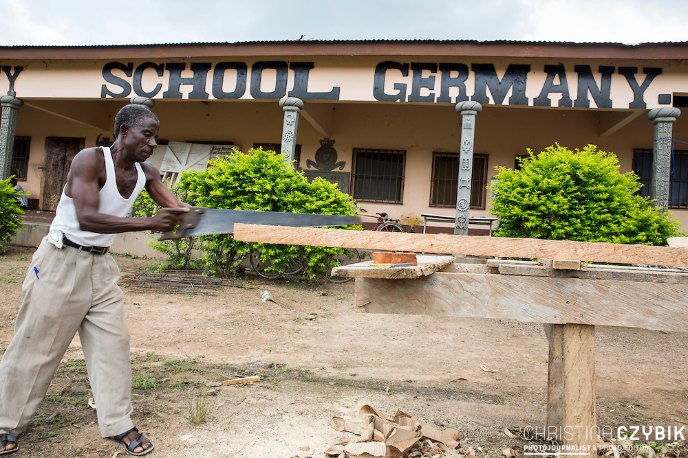 King Cephas Bansah visits his school in Hohoe, Ghana on September 5th, 2016.<br /> <br /> Cephas Bansag International Children Help E.V. Germany School teaches not only children but also cares for the education of nurses and medical staff and offers beds for students that have to travel a far distance.<br /> <br /> ***Togbe Ngoryifia Cephas Kosi Bansah of Gbi Traditional Area Hohoe Ghana and Traditional, Spiritual and Honorable King of the Ewes and his wife, Queen Mother Gabriele Akosua Bansah Ahado Hohoe Ghana***