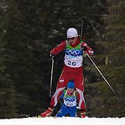 Winter Olympics, Vancouver, 2010.Weronika Novakowska, Poland, in action during the Women's 7.5 KM Sprint Biathlon at The Whistler Olympic Park, Whistler, during the Vancouver  Winter Olympics. 13th February 2010. Photo Tim Clayton