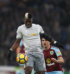 Paul Pogba of Manchester United (L) and Jack Cork of Burnley in action - Mandatory by-line: Jack Phillips/JMP - 20/01/2018 - FOOTBALL - Turf Moor - Burnley, England - Burnley v Manchester United - English Premier League