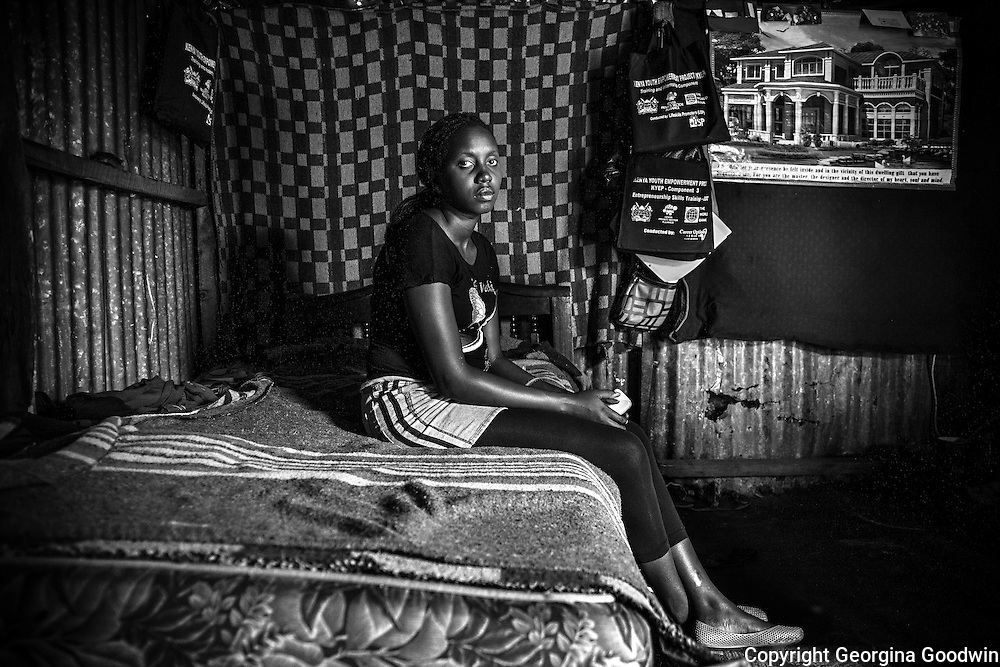 Moreen, aged 21. Raped at the age of 14 just outside the Mugumoini area she has yet to tell anyone except her best friend. <br />