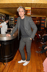 GEORGE LAMB at the Kiehl's Icons VIP Dinner held at the Balthazar Dining Room, Wellington Street, London on 26th March 2014.