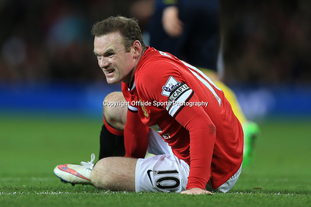 11th January 2015 - Barclays Premier League - Manchester United v Southampton - Wayne Rooney of Man Utd looks dejected - Photo: Simon Stacpoole / Offside.