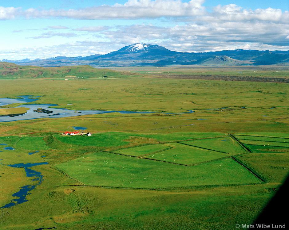Vindás séð til norðausturs, Rangárþing ytra áður Landmannahreppur / Vindas viewing northeast, Rangarthing ytra former Landmannahreppur.