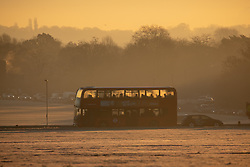 © Licensed to London News Pictures. 31/01/2019. London, UK. A bus filled with condensation in Blackheath Park in south east London on a frosty, clear morning. Temperatures in London reach minus three degrees Celsius last night. Photo credit : Tom Nicholson/LNP