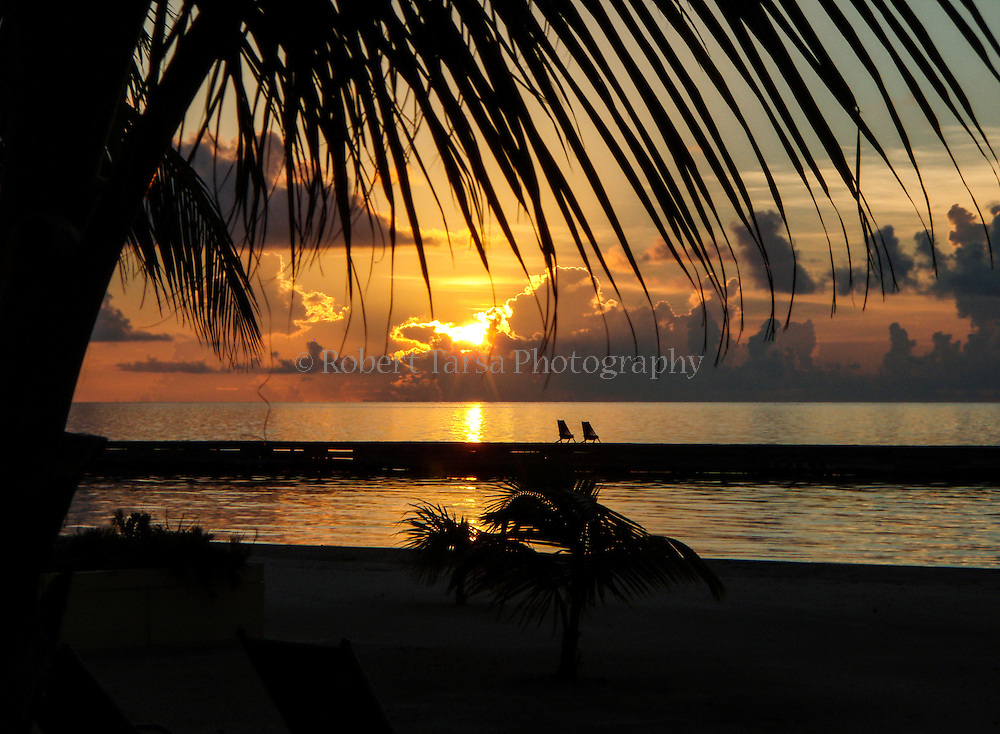 Early morning sunrise from Turneffe Island Belize.