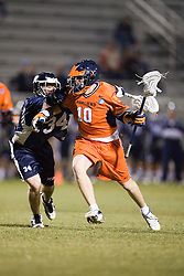 Virginia Cavaliers M Jack Riley (10)<br /> <br /> The Virginia Cavaliers Men's Lacrosse Team defeated Mount St. Mary's 23-6 at Kl?ckner Stadium in Charlottesville, VA on March 13, 2007.