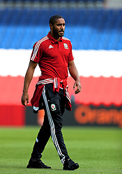 PARIS, FRANCE - Friday, June 24, 2016: Wales' captain Ashley Williams during a training session at the Parc des Princes ahead of the Round of 16 UEFA Euro 2016 Championship match against Northern Ireland. (Pic by David Rawcliffe/Propaganda)