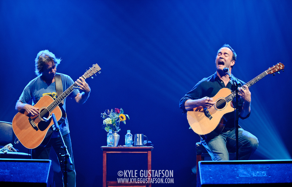 Washington, D.C. - May 20, 2010:  Dave Matthews and Tim Reynolds perform at DAR Constitution Hall as part of a benefit for the Jane Goodall Foundation. (Photo by Kyle Gustafson/For The Washington Post)