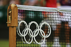 Olympic Games London 2012, net with olympic rings, Netz, .www.sportida.com
