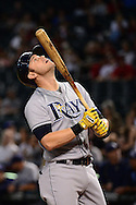 PHOENIX, AZ - JUNE 08:  Evan Longoria #3 of the Tampa Bay Rays reacts while at bat in the first inning against the Arizona Diamondbacks at Chase Field on June 8, 2016 in Phoenix, Arizona.  (Photo by Jennifer Stewart/Getty Images)