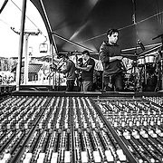 The Cliftones on stage during sound check in Sugarloaf during the 28th annual Bud Light Reggae Festival - 16th April 2016 - Sugarloaf, Maine, USA
