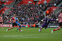Football - 2016 / 2017 Premier League - Southampton vs.AFC Bournemouth<br /> <br /> Bournemouth's Benik Afobe scores only for his goal to be ruled out for offside at St Mary's Stadium Southampton<br /> <br /> COLORSPORT/SHAUN BOGGUST