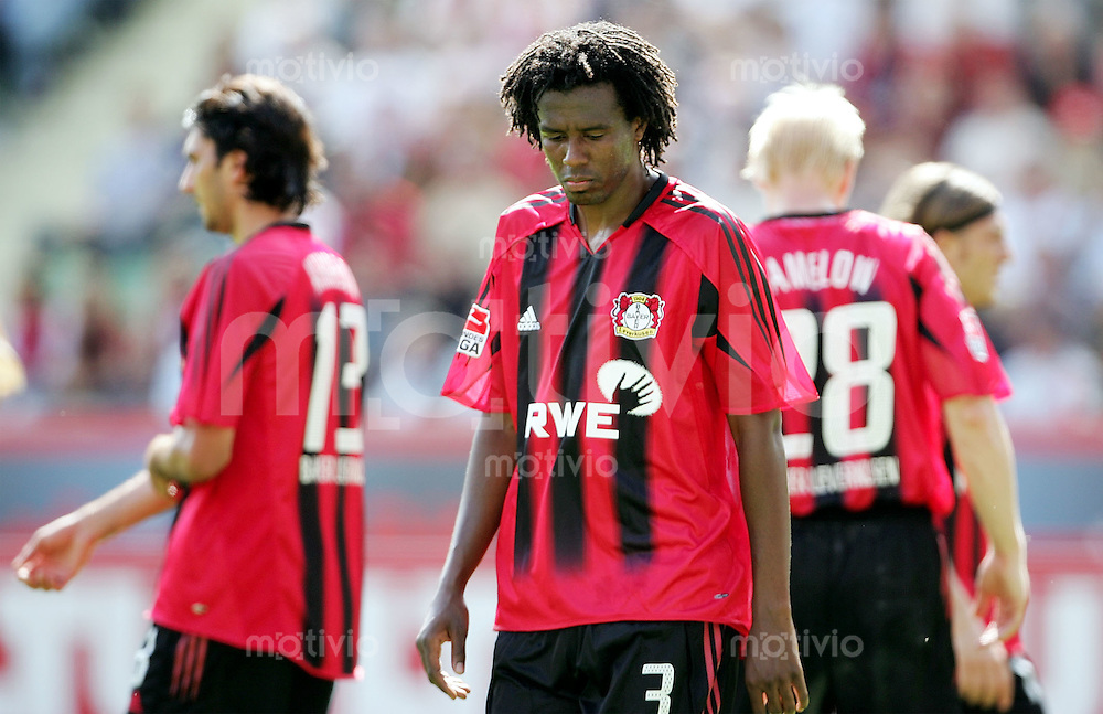 Fussball 1. Bundesliga Saison 2005/2006   2. Spieltag Bayer 04 Leverkusen - FC Bayern Muenchen  Roque JUNIOR (Leverkusen) enttaeuscht
