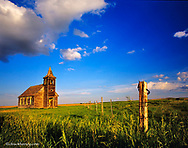 Rocky Valley Lutheran Church in the ghost town of Dooley, Montana, USA