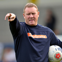 TELFORD COPYRIGHT MIKE SHERIDAN York boss Steve Watson during the National League North fixture between AFC Telford United and York City at the New Bucks Head on Saturday, October 12, 2019.<br /> <br /> Picture credit: Mike Sheridan<br /> <br /> MS201920-025