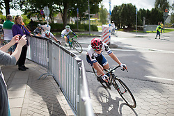 Lotta Lepistö (FIN) of Cervélo-Bigla Cycling Team leans into the final corner of the penultimate lap around Vårgårda during the 141 km road race of the UCI Women's World Tour's 2016 Crescent Vårgårda women's road cycling race on August 21, 2016 in Vårgårda, Sweden. (Photo by Balint Hamvas/Velofocus)