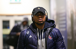 Panos Mayindombe of Bristol Flyers arriving at the arena - Photo mandatory by-line: Arron Gent/JMP - 07/12/2019 - BASKETBALL - Surrey Sports Park - Guildford, England - Surrey Scorchers v Bristol Flyers - British Basketball League Championship
