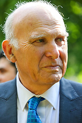 © Licensed to London News Pictures. 10/05/2019. London, UK. Leader of Liberal Democrats, Vince Cable in Camden, north London duringthe Liberal Democrats European Union election campaign. Britain must hold European Parliament elections on 23rd May 2019 or leave the European Union with no deal on 1st June 2019 after Brexit was delayed until 31st October 2019, as Prime Minister, Theresa May failed to get her Brexit deal approved by Parliament. Photo credit: Dinendra Haria/LNP