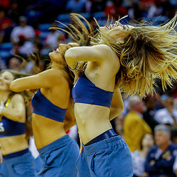 Mar 29, 2017; New Orleans, LA, USA; New Orleans Pelicans dance team performs during the second quarter of a game against the Dallas Mavericks at the Smoothie King Center. Mandatory Credit: Derick E. Hingle-USA TODAY Sports