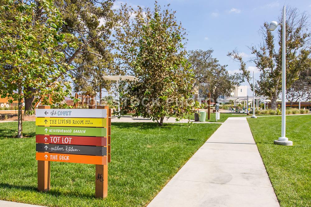 Parasol Park Signage in Irvine California