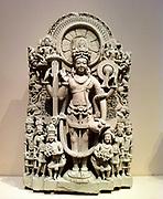 Stele of a four armed Vishnu. India, 10th-11th Century AD. Sandstone