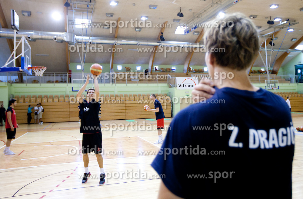 Goran Dragic and his brother Zoran Dragic during practice session of Slovenian National Basketball team during training camp for Eurobasket Lithuania 2011, on July 12, 2011, in Arena Vitranc, Kranjska Gora, Slovenia. (Photo by Vid Ponikvar / Sportida)
