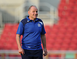 Director of Rugby Andy Robinson looks on as Bristol Rugby players train in front of the new South Stand, opened to the public for the first time - Mandatory byline: Joe Meredith/JMP - 07966 386802 - 07/08/2015 - RUGBY UNION - Ashton Gate Stadium - Bristol, England - South Stand Opening.