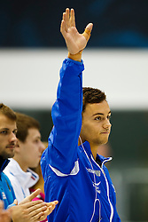 Tom Daley of Great Britain is introduced before the Mens 10m Platform Final - Photo mandatory by-line: Rogan Thomson/JMP - 07966 386802 - 23/08/2014 - SPORT - DIVING - Berlin, Germany - SSE im Europa-Sportpark - 32nd LEN European Swimming Championships 2014 - Day 11.