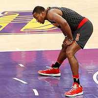 27 November 2016: Atlanta Hawks center Dwight Howard (8) is seen during the Los Angeles Lakers 109-94 victory over the Atlanta Hawks, at the Staples Center, Los Angeles, California, USA.