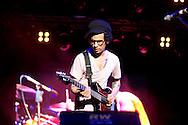 Omar Rodriguez Lopez Group es una banda de rock experimental la cual esta encabezada por Omar Rodriguez Lopez, multi-intrumentalista compositor y productor. Panama, 17 de febre de 2012. (Andres Rivera/Istmophoto)