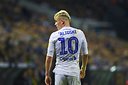Ezgjan Alioski of Leeds United (10) in action during the EFL Sky Bet Championship match between Leeds United and West Bromwich Albion at Elland Road, Leeds, England on 1 March 2019.