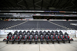 General view of the bench at Milton Keynes Dons Stadium MK Milton.