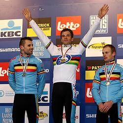 Worldchampion Niels Albert, 2nd Rob Peetrs and 3th Kevin Pauwel