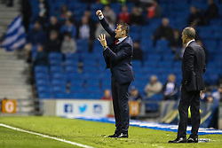 Brighton and Hove Albion Manager Chris Hughton - Mandatory byline: Jason Brown/JMP - 07966 386802 - 20/10/2015 - FOOTBALL - American Express Community Stadium - Brighton,  England - Brighton & Hove Albion v Bristol City - Championship