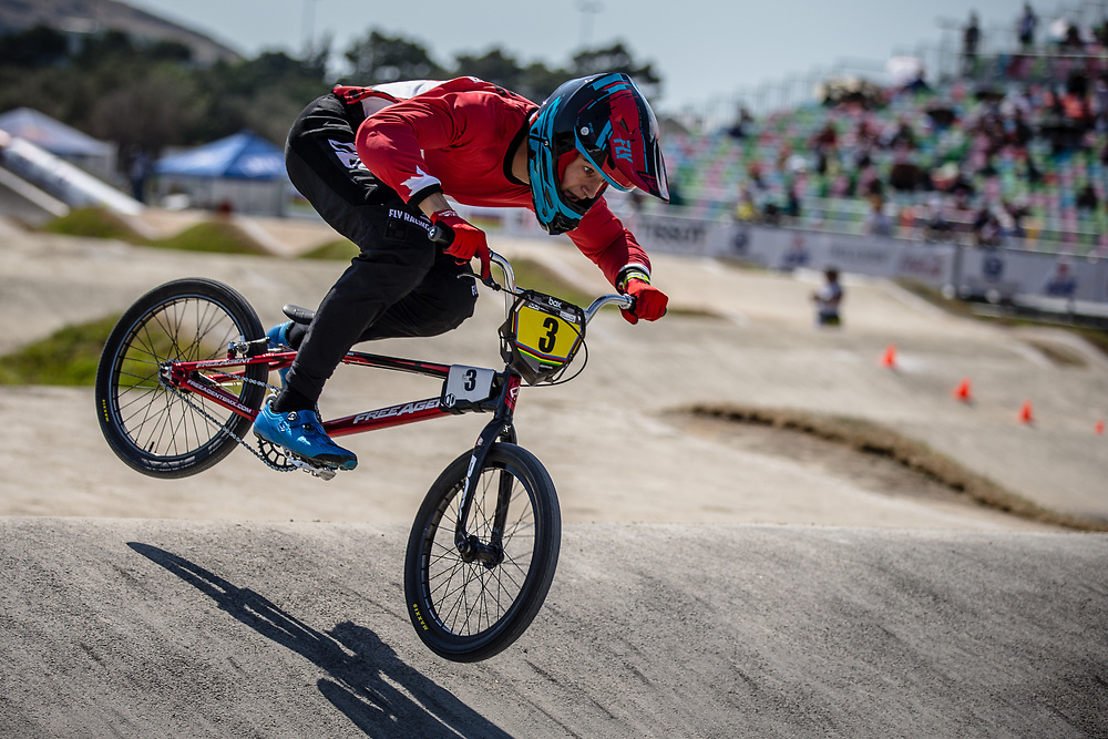 16 Boys #3 (TOUGAS Ryan) CAN at the 2018 UCI BMX World Championships in Baku, Azerbaijan.