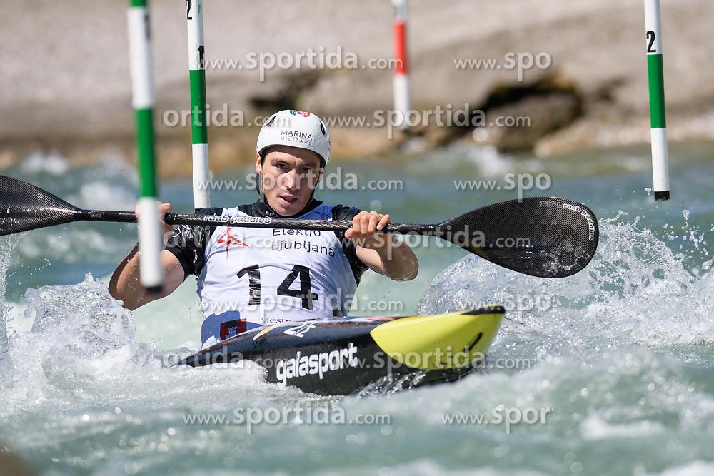 Zeno IVALDI of Italy during the Kayak Single (MK1) Mens Semi Final race of 2019 ICF Canoe Slalom World Cup 4, on June 30, 2019 in Tacen, Ljubljana, Slovenia. Photo by Sasa Pahic Szabo / Sportida