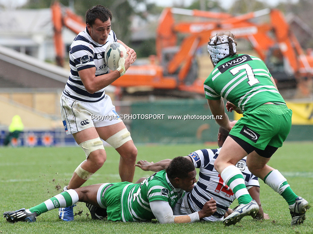 Auckland's Chris Lowrey in action during the Air New Zealand Cup. Auckland v Manawatu. Eden Park, Auckland, New Zealand. Saturday 23 August 2008. Photo: Andrew Cornaga/PHOTOSPORT